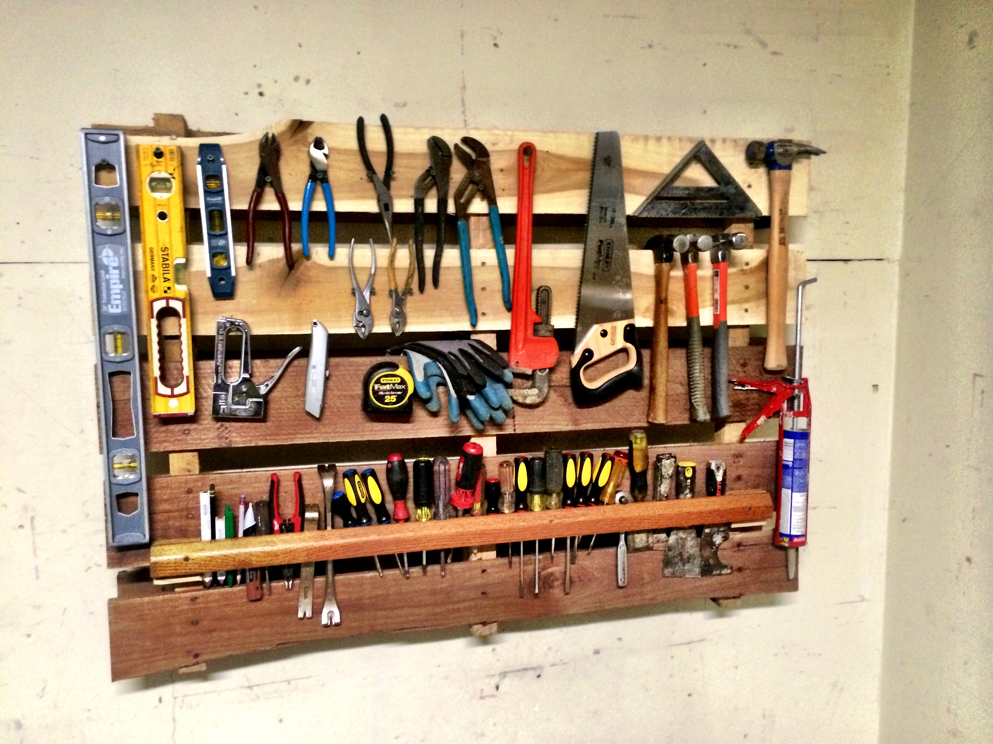 Sonoma General Contractors DIY Tool Organization Used Pallets